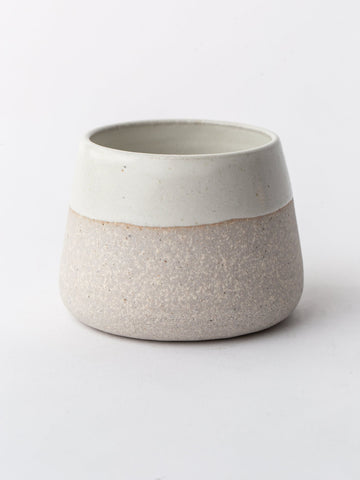 Ceramic Cup in Sand and Ivory
