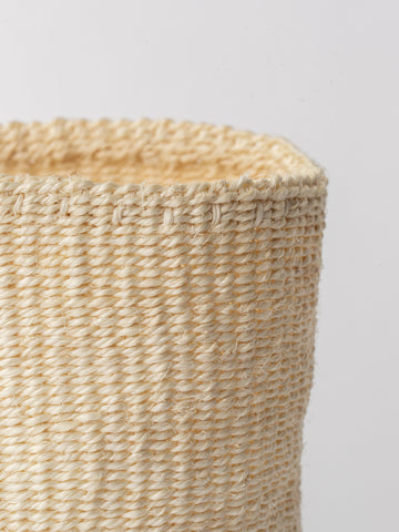 Small Sisal Cylindrical Basket in Ivory