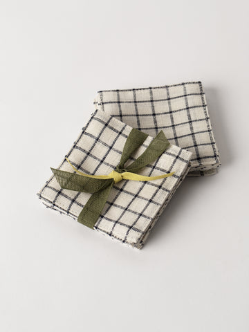 Linen Coaster in Stripe