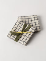 Linen Coasters in Check