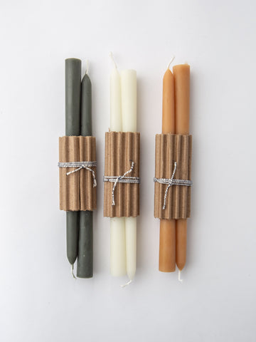 "Pair of Beeswax 10"" Candles in Natural"