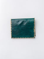 Lambskin Billfold Wallet In Green