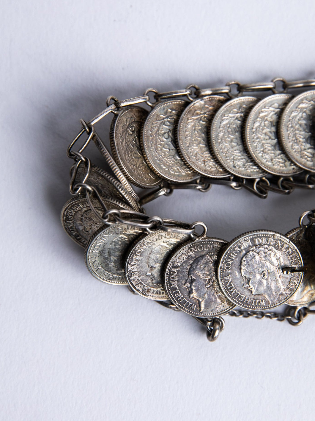 Vintage Dutch Coin Bracelet