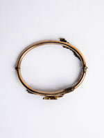Victorian Gold Filled Bangle with Leaf Detail