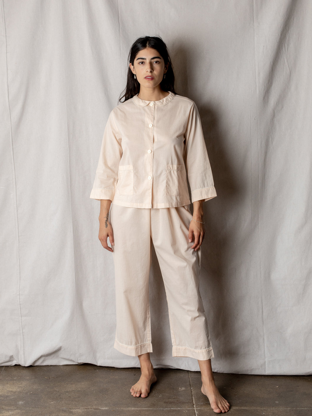 Classic Sweet Collar Pajama in Blush