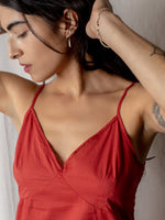 Domi Cotton Slip in Tomato