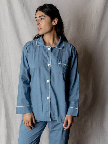 Oversize Pajama Set, Cornflower Blue