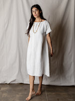 Vintage Cream Dress with Gather