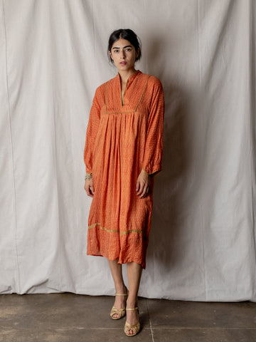 Orange and Gold Silk Tunic