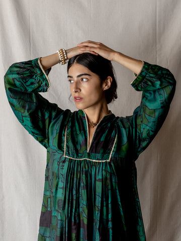 Emerald Silk Tunic