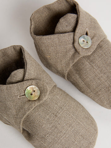 Handmade Linen Baby Shoes