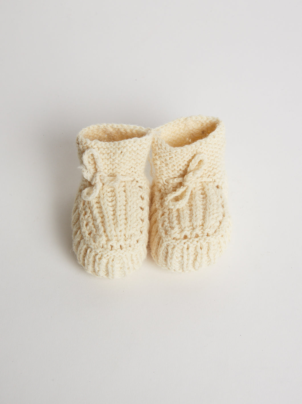Hand Knitted Soft Wool Baby Shoes