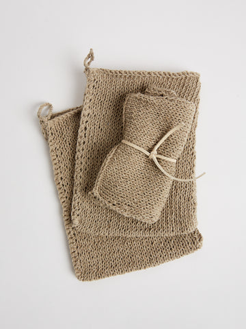 Linen Body Bath Mitt