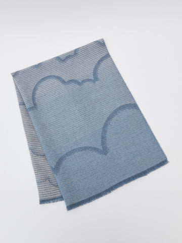 ama London Hand Finished Merino Wool Baby Blanket in Cloud