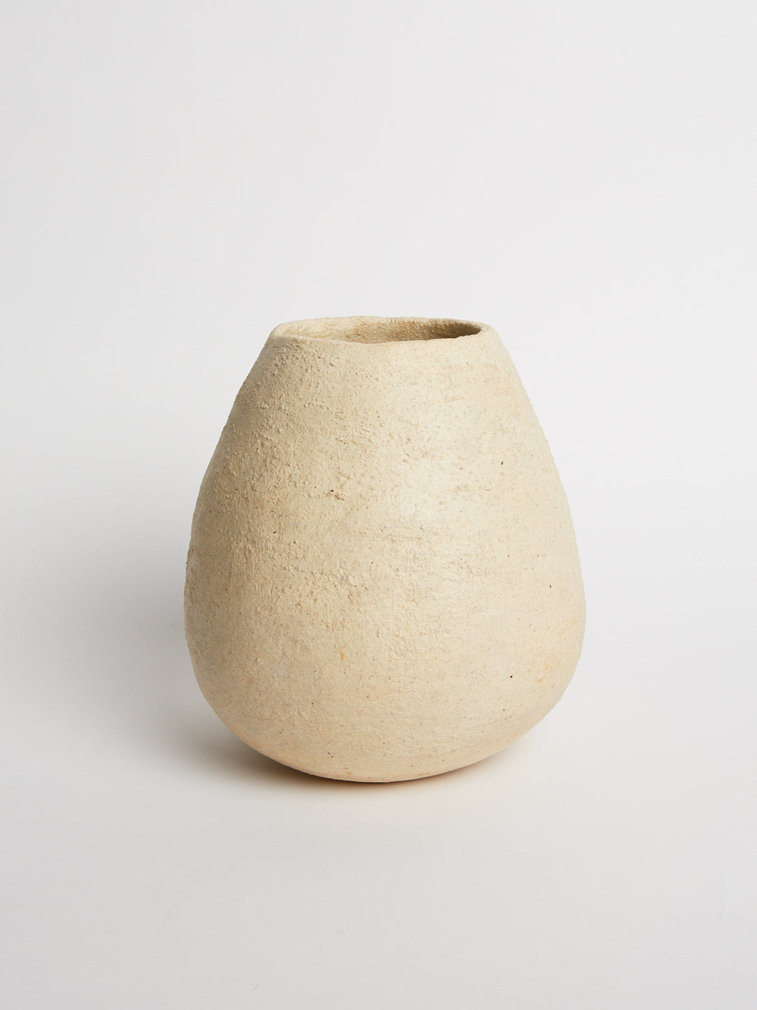 White Textured Vessel