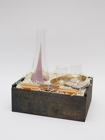 Large Gift Box with Carafe and Glasses