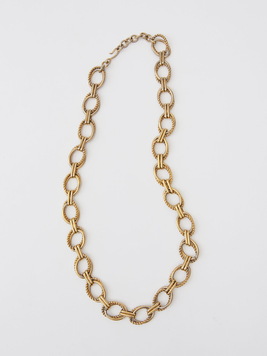 Vintage Braided and Smooth Link Chain