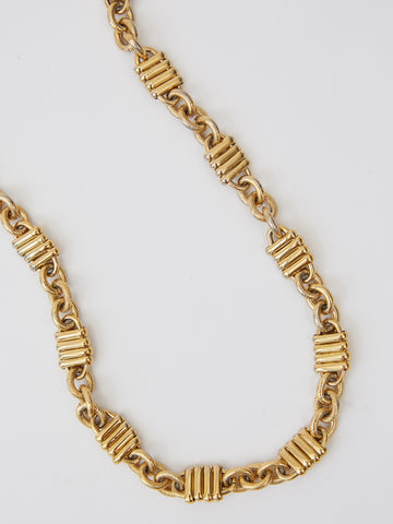 Vintage Ribbed Link Chain