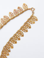 Vintage Goldtone Necklace with Leaf Motif