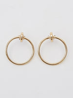 BB Atelier Large Moon Hoop Earrings-Gold