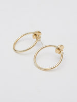 BB Atelier Large Moon Hoop Earrings-Gold Large
