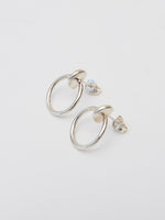 BB Atelier Petit Moon Hoop Earrings-Silver