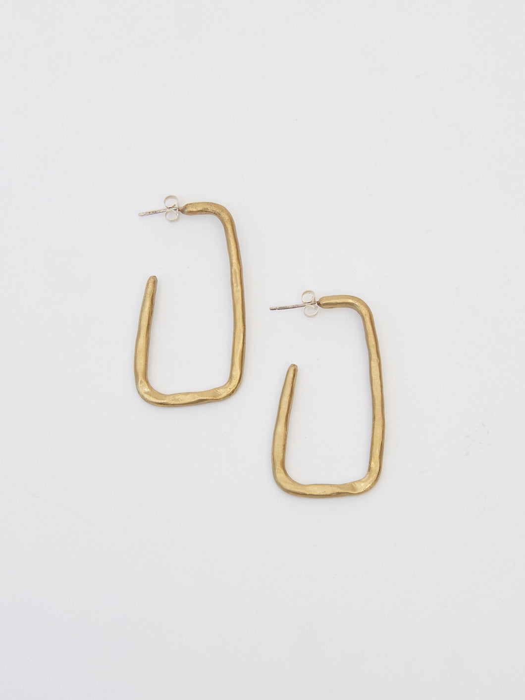 Large Angled Hoop Earrings