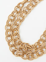 Vintage Gold-Tone Heavy Link Necklace