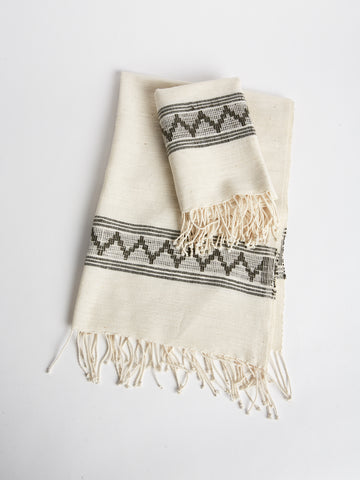 Hand Towel in Natural and Grey