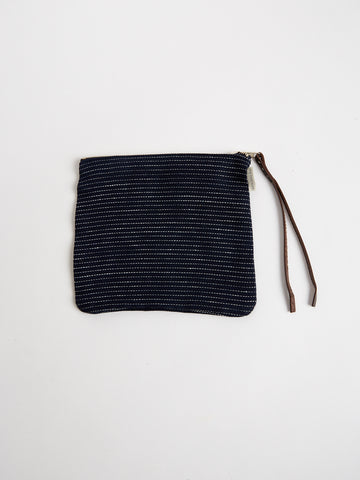 Linen Bag in Navy Pin Stripe