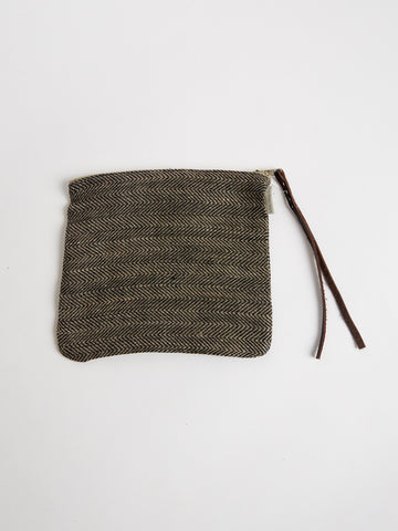 Linen Bag in Herringbone