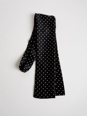 Silk Scarf by The Arc -Black and White Microdot