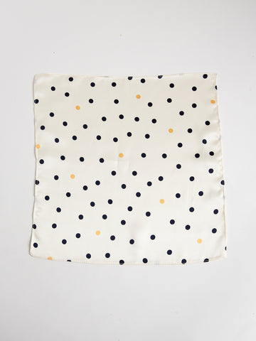 The Arc Petite Scarf in Blue and Yellow Microdot