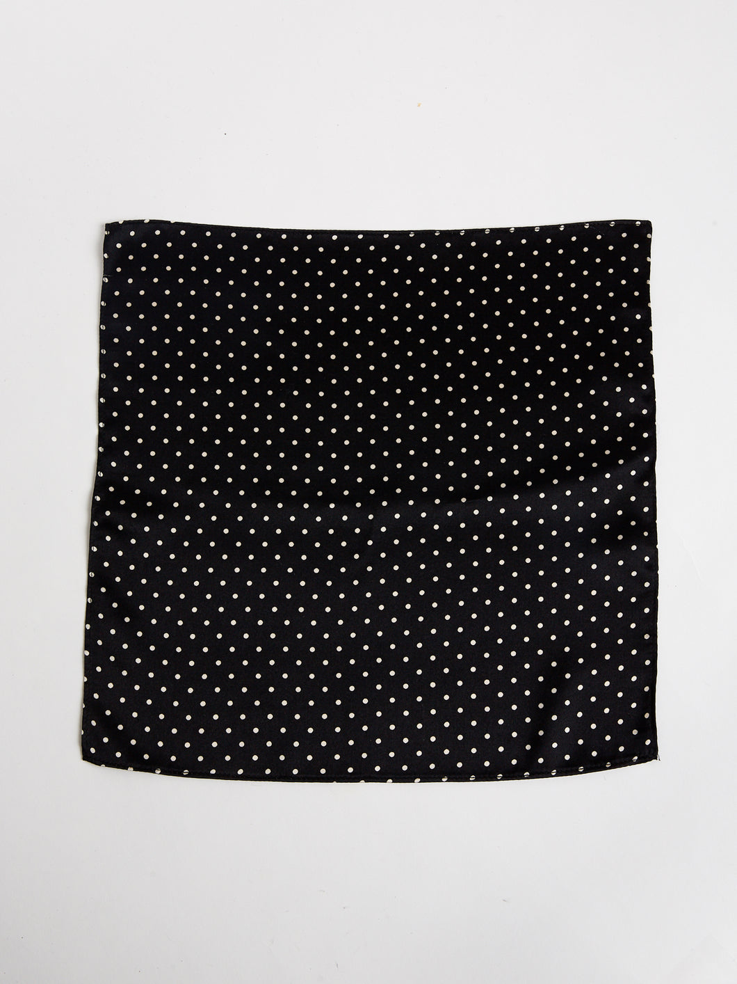 The Arc Petite Scarf in Black and White Microdot