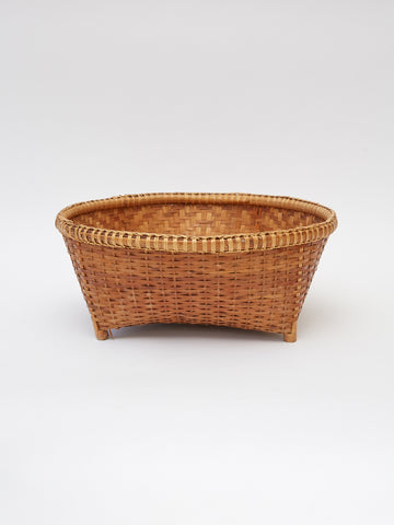 Vintage Footed Woven Basket
