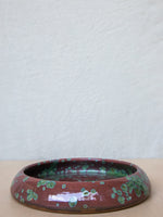 Ceramic Dish in Coral and Moss Glaze