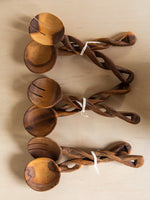 Twisted Wood Serving Utensils