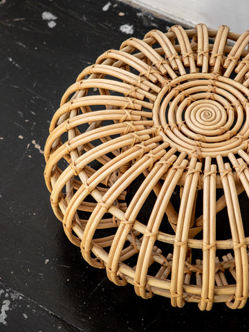 Rattan Pouf in Natural
