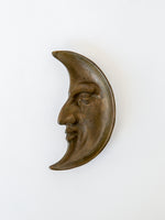 Vintage Brass Crescent Moon Tray