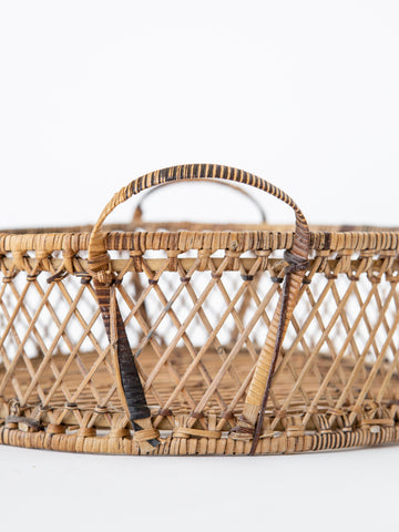 Woven Tray Basket with Handles Small