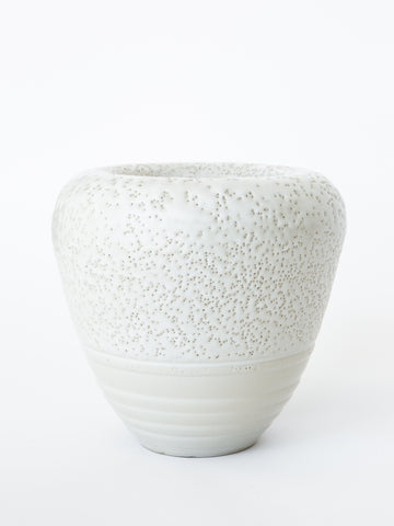 Large Textured Off White Vase