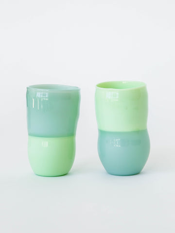 Handblown Drinking Glasses in Green
