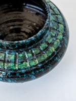 Green and Blue Ceramic Vase