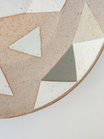Triangle platter in Soft Grey, Green and White