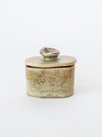 Handmade Petite Ceramic Box in Yellow with Lid