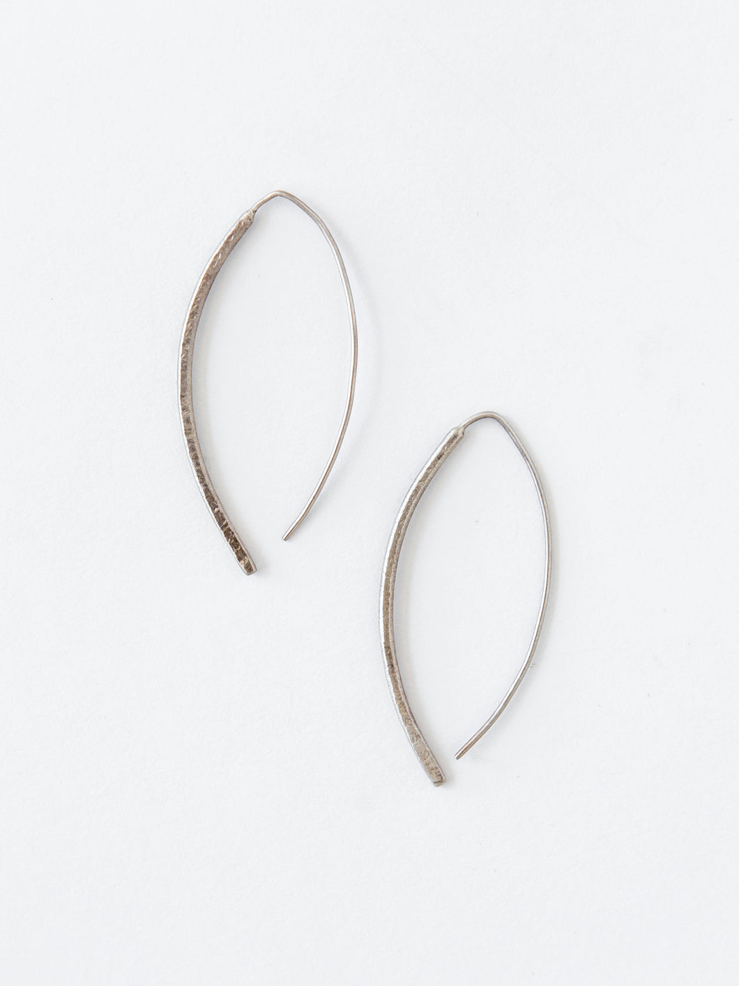Fili Di Fieno Due Silver Earrings