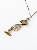 Vintage Brass Pesce Necklace