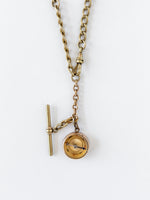 Victorian Gold Filled Necklace with Compass