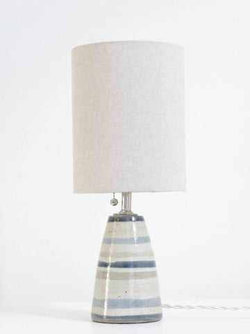 Ceramic Table Lamp with Horizontal Stripes