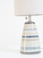 Ceramic Striped Table Lamp